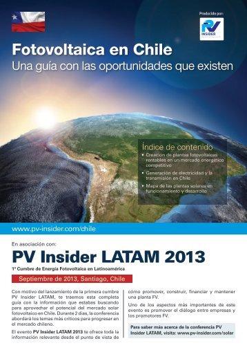 PV Insider LATAM 2013