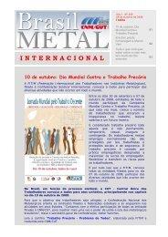 10 de outubro: Dia Mundial Contra o Trabalho Precário - CNM/CUT