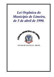 Lei Orgânica do Município de Limeira, de 5 de abril de 1990.