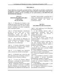 Lei Orgânica do Município de Limeira - Atualizado até Emenda nº ...