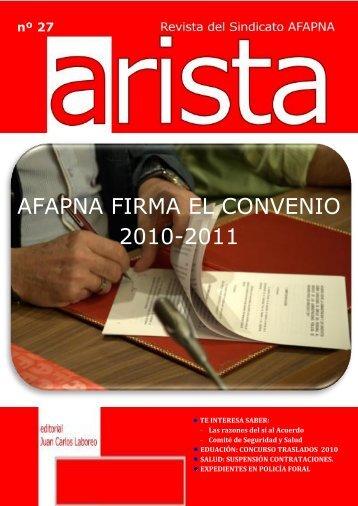 Número 27, marzo de 2010 - Afapna