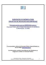 Chamada Pública MCT/FINEP/SUBVENÇÃO ECONÔMICA À ... - Fiep