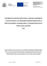 Libro instrucciones FSE 2012 - Secretaría General de Inmigración y ...
