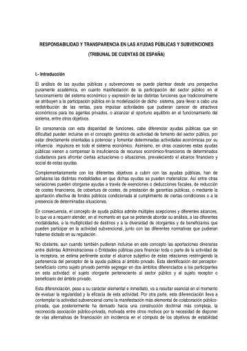 (TRIBUNAL DE CUENTAS DE ESPAÑA) I.