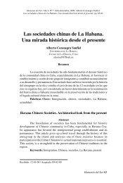 Las sociedades chinas de La Habana. Una mirada ... - Saber ULA