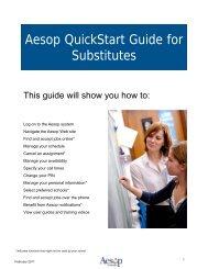 Aesop QuickStart Guide for Substitutes