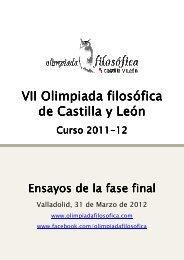 Ensayos escritos por los finalistas de la VII Olimpiada filosófica de ...