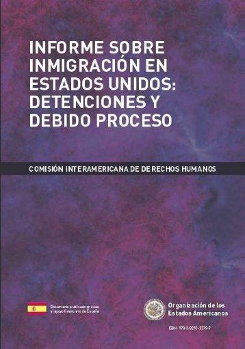 Informe sobre Inmigración en Estados Unidos: Detenciones - OAS