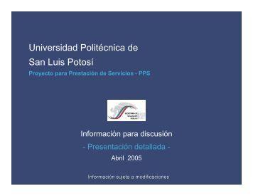 PPS Universidad Politécnica de San Luis Potosí - Secretaría de ...