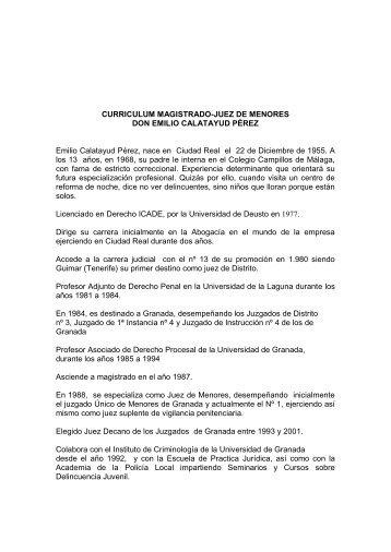 Curriculum de Emilio Calatayud - Identidadparaellos.org