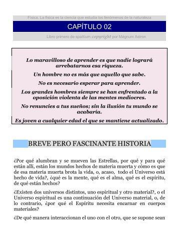 CAPÍTULO 02 BREVE PERO FASCINANTE HISTORIA