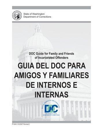 guia del doc para amigos y familiares de - Washington Department ...