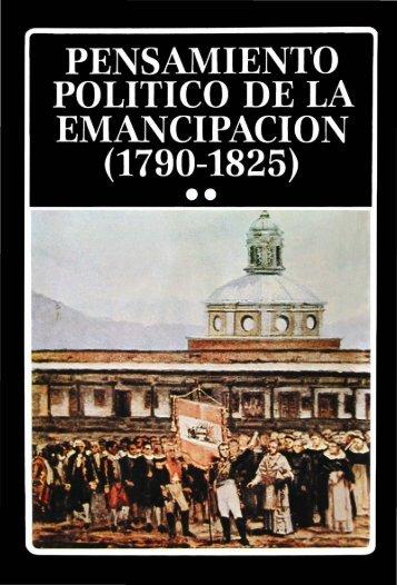 Pensamiento Político de la Emancipación II