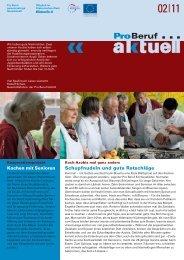 ProBeruf Aktuell 02|11 - Pro Beruf GmbH