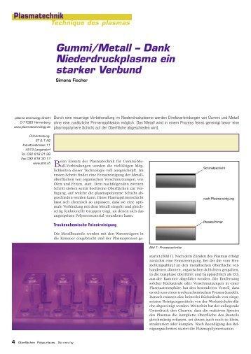 Gummi/Metall – Dank Niederdruckplasma ein starker Verbund