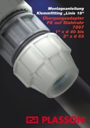 Klemmfittings (Adapter PE/Stahl 07890) - Plasson