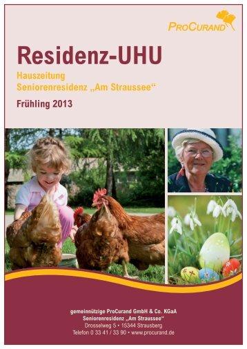 Hauszeitung Frühling 2013 - ProCurand