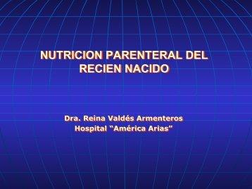 Nutrición parenteral en el recién nacido - Sociedad Cubana de ...