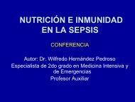 Nutrición e inmunidad en la sepsis