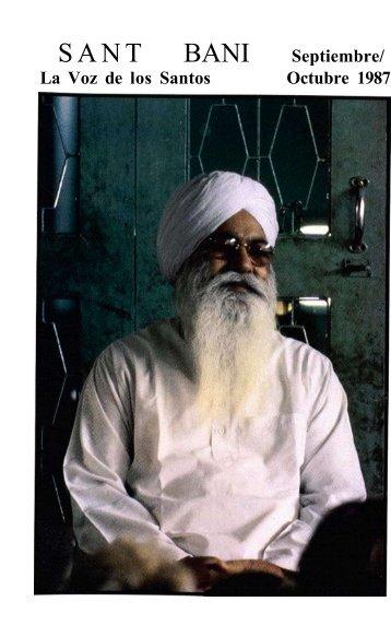 Revista Sant Bani Septiembre-Octubre 1987 - Sant Bani Ashram