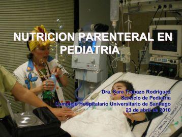 Nutrición Parenteral en Pediatría - Sonudiga
