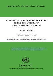 COMISIÓN TÉCNICA MIXTA OMM/COI SOBRE OCEANOGRAFÍA Y ...