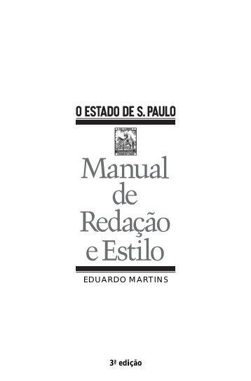 Manual de redação e estilo do jornal O Estado de São Paulo - NAUI