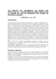 los efectos del tratamiento de sostén con fosfolipasa a2