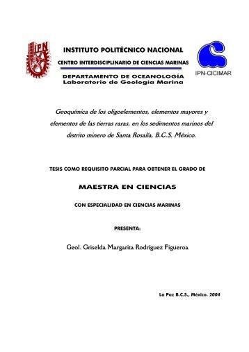 Geoquímica de los oligoelementos, elementos mayores y elementos ...