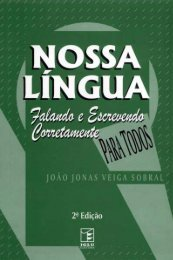 Nossa Língua: Falando e Escrevendo Corretamente