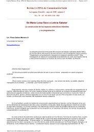 De María Luisa Seco a Leticia Sabater. la construcción de los ...
