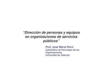 """""""Dirección de personas y equipos en organizaciones de ... - Rebiun"""