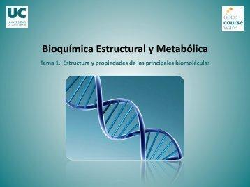 Tema 1. Estructura y propiedades de las principales biomolécul