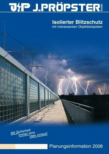 Isolierter Blitzschutz - J. Pröpster GmbH