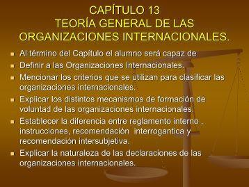TEORÍA GENERAL DE LAS ORGANIZACIONES INTERNACIONALES