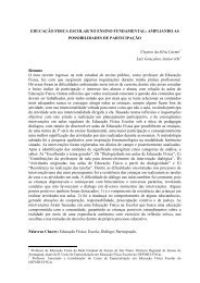 EDUCAÇÃO FISICA ESCOLAR NO ENSINO FUNDAMENTAL ...