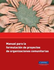 Manual organizaciones comunitarias - Cippec