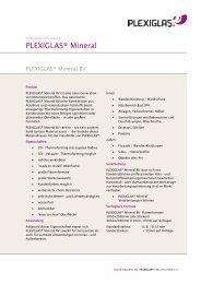 PLEXIGLAS ® Mineral BV - Technische Information