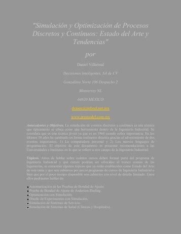 """""""Simulación y Optimización de Procesos Discretos y ... - ProModel"""