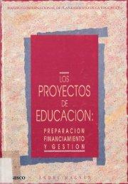 Los Proyectos de educación: preparación ... - unesdoc - Unesco