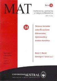 Conferencias, seminarios y trabajos de Matematica Terceras ...