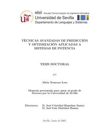 Técnicas avanzadas de predicción y optimización aplicadas a ...