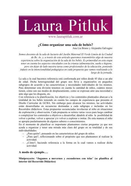 Laura La Sala.Como Organizar Una Sala De Bebes Laura Pitluk