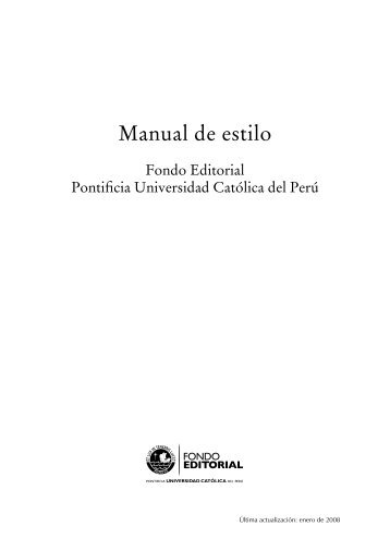 Manual de estilo - Pontificia Universidad Católica del Perú