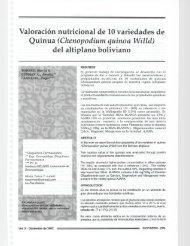 Valoración nutricional de 10 variedades de Quinua - Organización ...