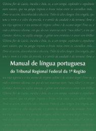 Manual de Língua Portuguesa do TRF1 - Faculdade de Direito
