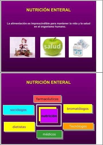 NUTRICIÓN ENTERAL - Instituto Tomás Pascual
