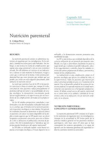 Nutrición parenteral - SEOM