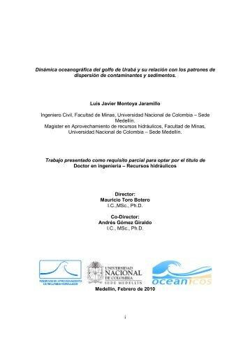 i Dinámica oceanográfica del golfo de Urabá y su relación con los ...
