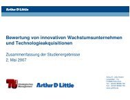 Bewertung von innovativen ... - Arthur D. Little